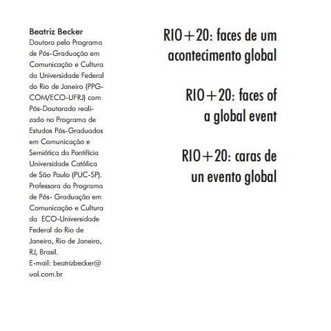 Imagem da capa do documento: Rio mais 20: faces de um acontecimento global.