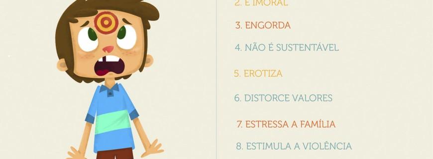 10 motivos para não expor as  criancas à publicidade