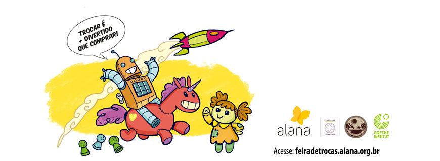 Feira de troca de brinquedos do Instituto Alana