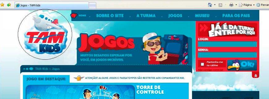 """Alana envia notificação à TAM por site """"TAM Kids"""""""