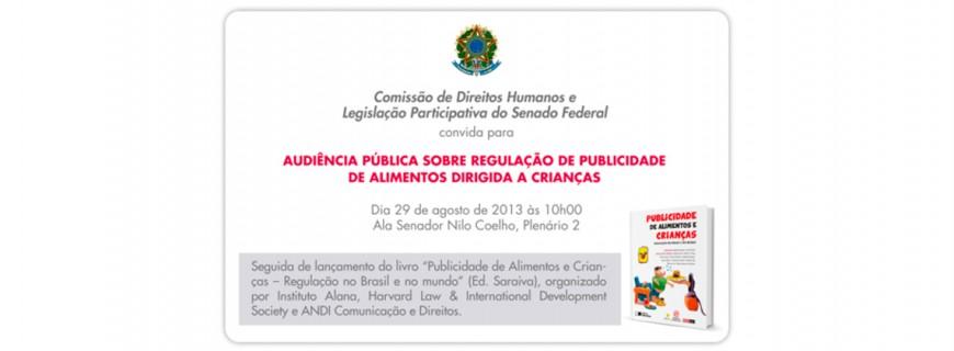 Audiência pública em Brasília debate regulação da publicidade de alimentos