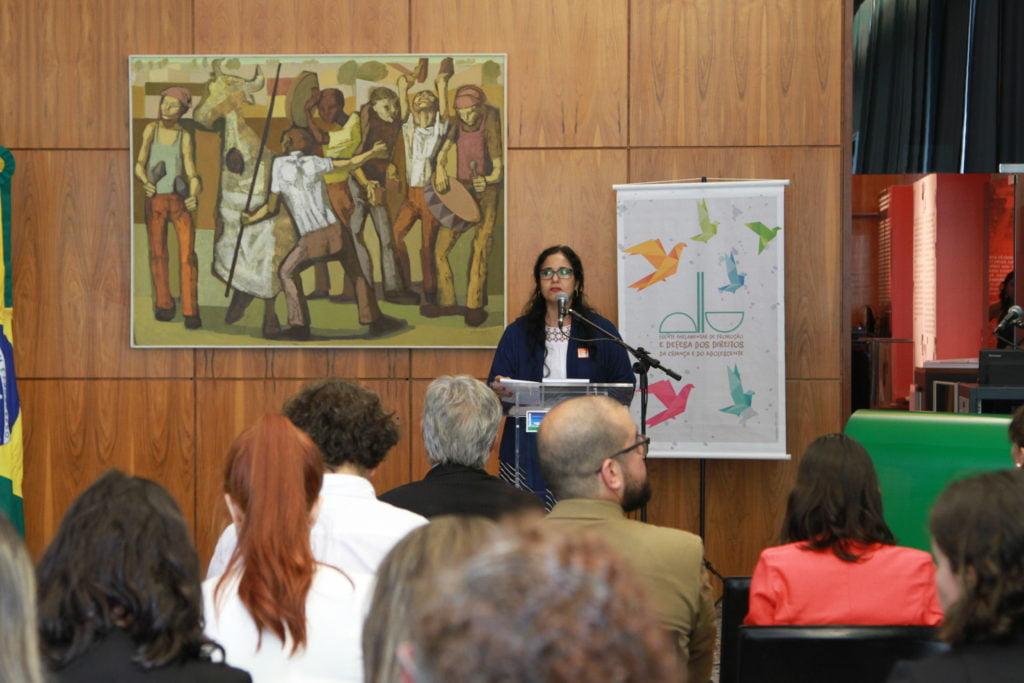 Luciamara Cavalcante, representante do Conanda (Foto: Laura Leal/ Instituto Alana)