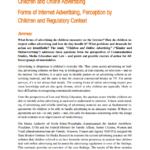 Imagem da capa do documento em inglês: Children and Online advertising. Forms of internet Advertising, Perception by Children and Regulatory Context.