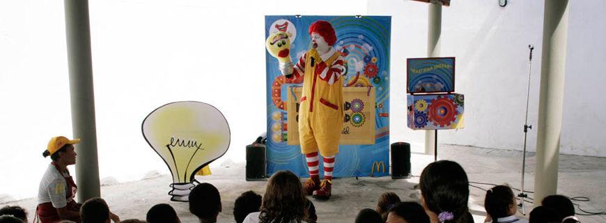Ronald McDonald não deve mais fazer shows em instituições de ensino paulistas