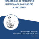 Capa do livro: Estratégias de marketing direcionadas a crianças na internet.
