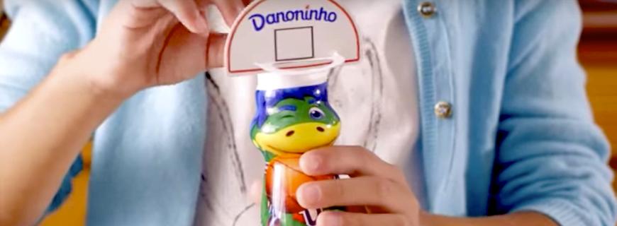 Publicidade da Danone no dia a dia das crianças