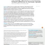 Imagem do documento em inglês: Marketing Vegetables in Elementary School Cafeteria to increase Uptake.