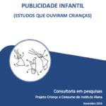 Capa do livro: Publicidade Infantil (Estudo que ouviram crianças)