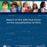 Imagem da capa do livro em inglês: Report of the APA Task Force on the Sexualization of Girls.