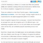 Imagem do documento em inglês: The three Es of marketing to kids