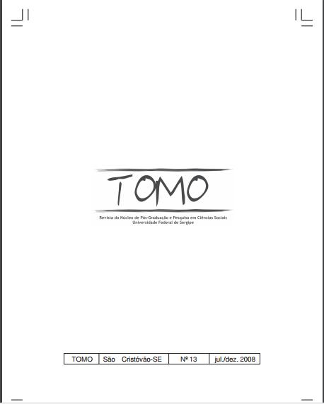 Imagem da capa do livro: Tomo. Revista do Núcleo de Pós-Graduação e Pesquisa em Ciências Sociais Universidade Federal de Sergipe.