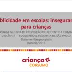 Imagem da capa do documento: Publicidade em escolas: insegurança para crianças.