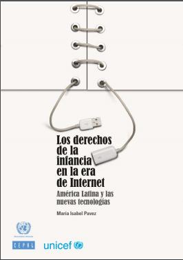 Imagem da capa do documento em espanhol: Los derechos de la infancia en la era de Internet. América latina y las nuevas tecnologías.
