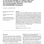 Imagem da capa do documento em inglês: A food policy package for healthy diets and the prevention of obesity and diet-related non-communicable diseases: the NOURISHING framework.