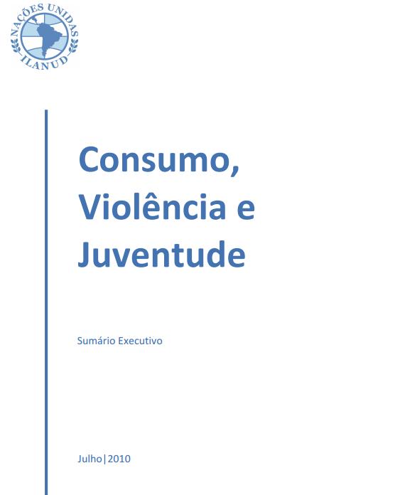 Imagem da capa do documento: Consumo, Violência e Juventude.