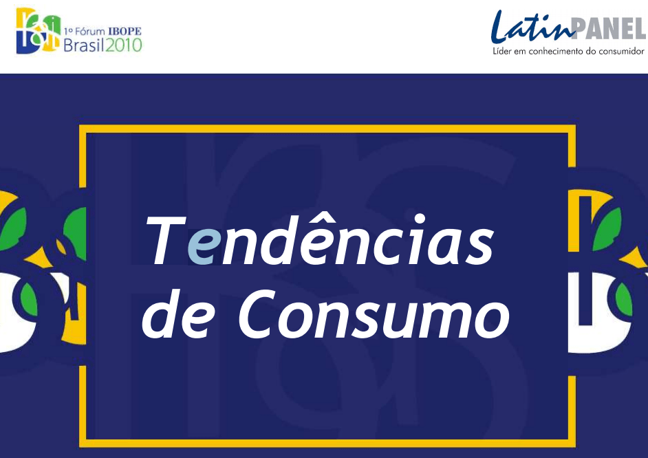 Imagem capa da apresentação: Tendências de Consumo.