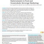 Imagem da capa do documento em inglês: Popular Music Celebrity Endorsements of Food and Nonalcoholic Beverage Marketing.