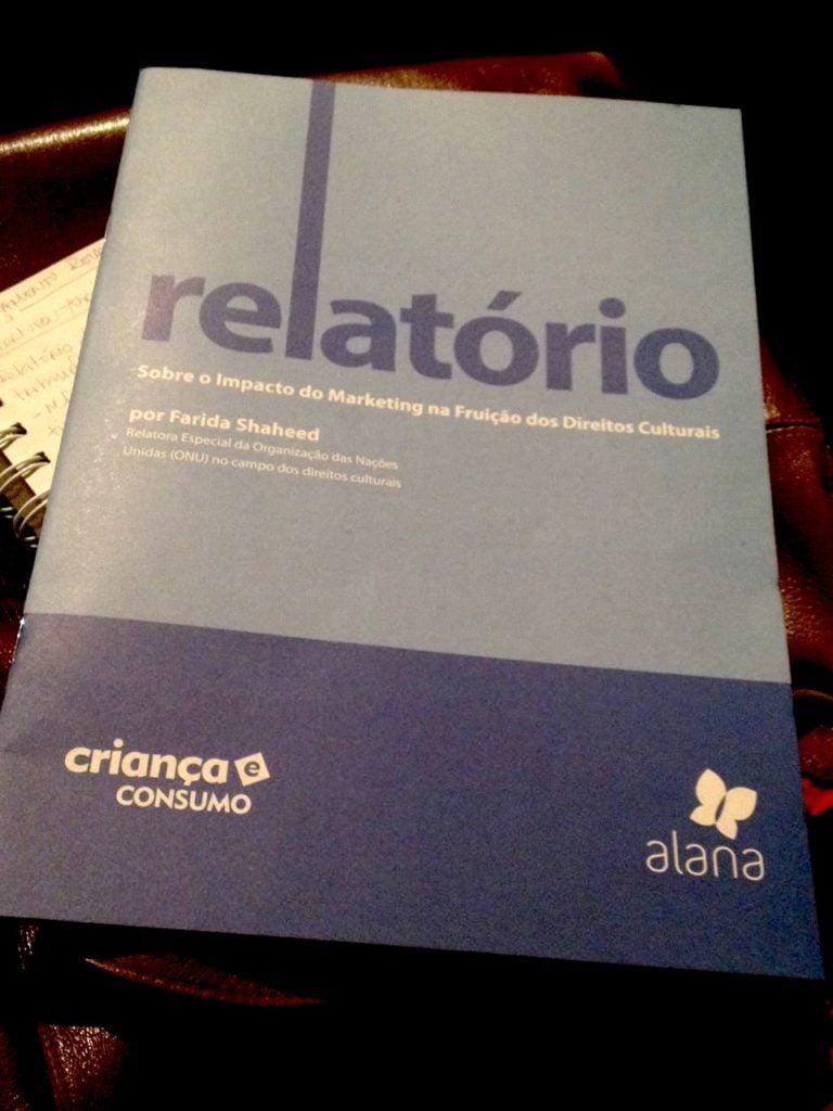 Lançamento do relatório. Foto: Laura Leal