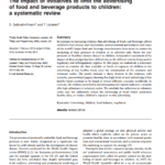 Imagem da capa do documento em inglês: The impact of initiatives to limit the advertising of food and beverage products to children: a systematic review.