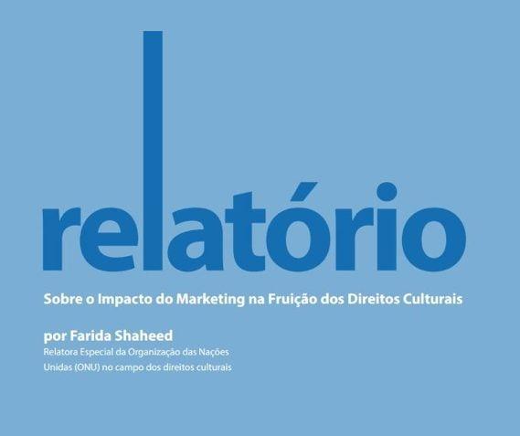 Imagem da capa do livro: relatório sobre o impacto do Marketing na fruição dos Direitos Culturais.