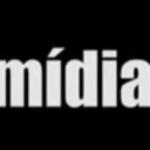 Letras em um fundo preto: Mídia.