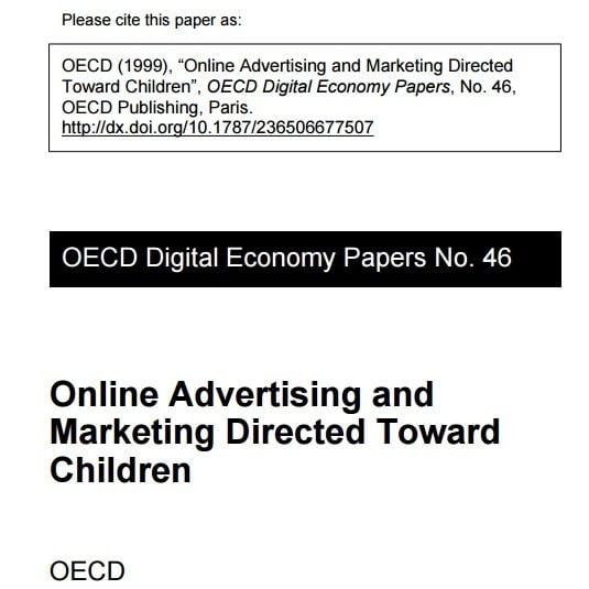 Imagem com letras em inglês: Please cite this papea as: OECD (1999),