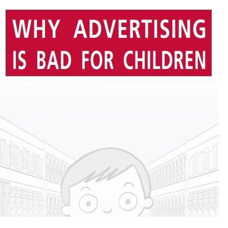 Imagem da capa do livro em inglês: Why advertising is bad for children.
