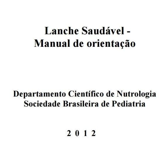 Imagem da capa do manula: Lance Saudável - Manual de orientação.
