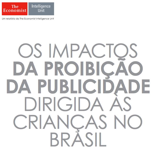 Foto da capa do relatório: Os impactos das proibição da publicidade dirigida às crianças no Braisil.