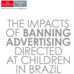 Capa em inglês do relatório: The impacts of banning advertising directed at children in Brazil.
