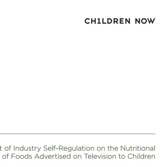 Capa do documento: The Impact of Industry Self-Regulation on the Nutritional Quality of Foods Advertised on Television to Children.