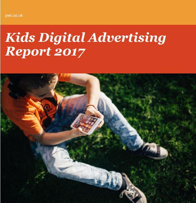 Imagem da capa do documento em inglês: Kids Digital Advertising Report 2017