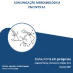 Capa do livro: Comunicação mercadológica em escolas.