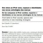 Capa do documento: Dos sinos ao Ipod: sons, espaços e identidades nas novas estratégias das marcas.