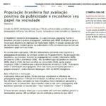 Foto de uma matéria: População brasileira faz avaliação positiva da publicidade e reconhece seu papel na sociedade.