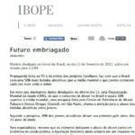 Imagem de uma matéria do IBOPE: Futuro embriagado.