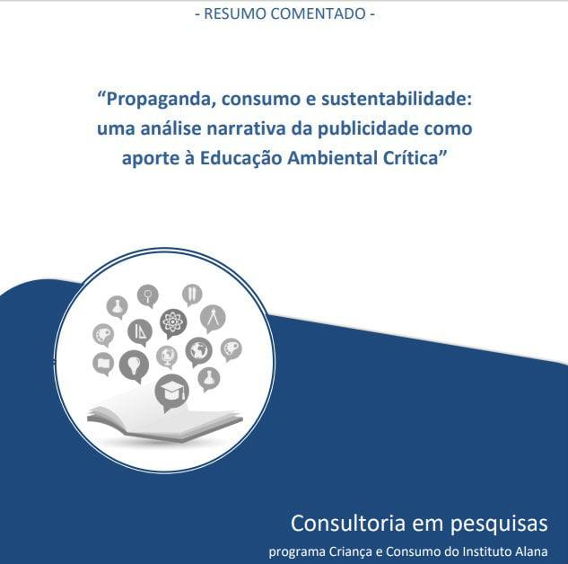 """Capa do livro: """"Propaganda, consumo e sustentabilidade: uma análise narrativa da publicidade como aporte à Educação Ambiental Crítica""""."""