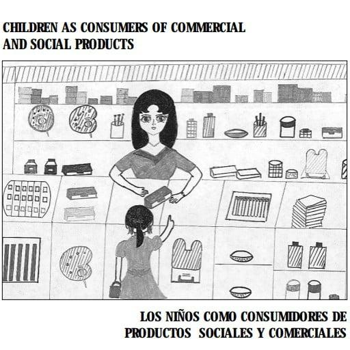 Capa do livro em espanhol: Los Ninõs como consumidores de productos sociales y comerciales.