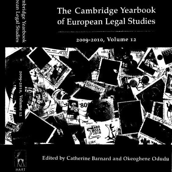 Capa do livro em inglês: The Cambridge Yearbook of European Legal Studies.