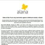 Imagem do documento em inglês: State of São Paulo may lead bettle against chilhood obesity in Brazil.