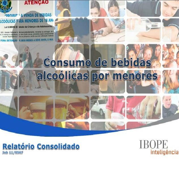 Capa da apresentação: Consumo de bebidas alcoólicas por menores.