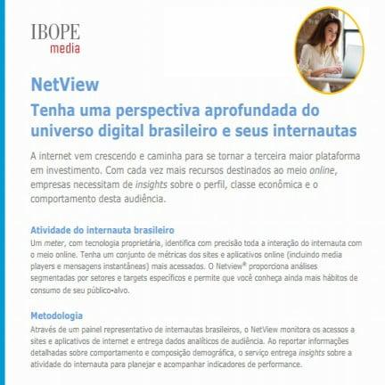 Imagem do informativo: NetView Tenha uma perspectiva aprofundada do universo digital brasileiro e seus internautas.