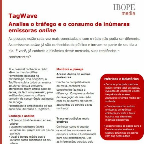 Imagem do informativo : TagWave Analis e o tráfego e o consumo de inúmeras emissoras online.