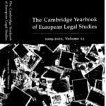 Capa do livro: The Cambridge Yearbook of European Legal Studies.