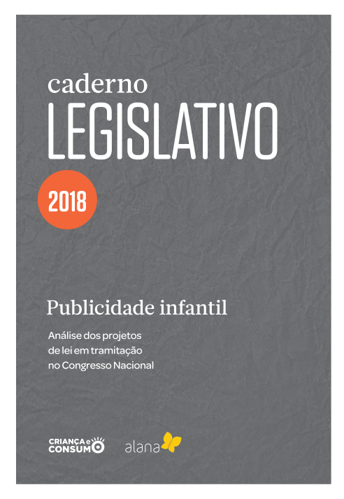 """Capa do caderno: """"Caderno legislativo 2018""""."""