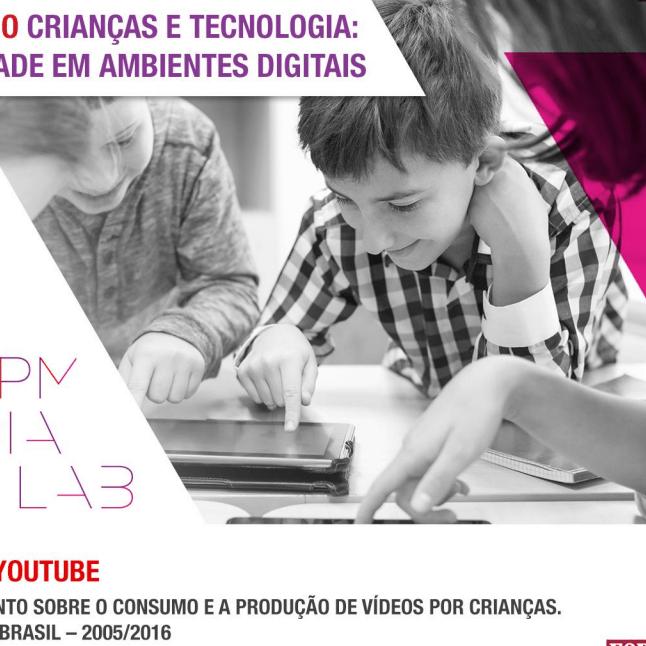 Imagem da capa de uma apresentação Seminário crianças e tecnologia: Publicidade em ambientes digitais.