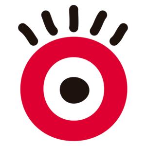 olho do logo do Criança e Consumo que é um grande círculo vermelho, com um menor branco dentro e outro menor ainda preto dentro do branco. Acima dos círculos, cinco linhas pretas para ilustrar os cílios