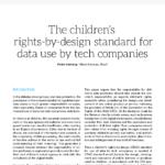 capa do artigo The children's rights-by-design standard for data use by tech companies